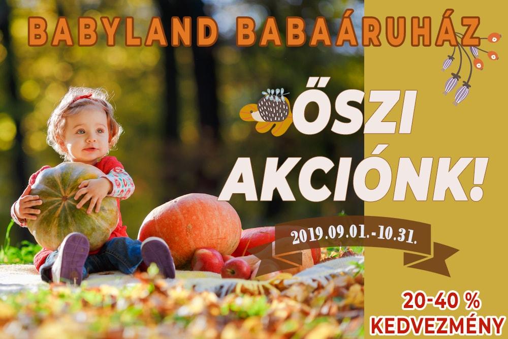 Babyland babaáruház őszi akció