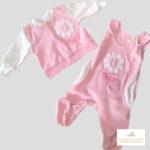 Leopoldi-kétrészes garnitúra-rózsaszín